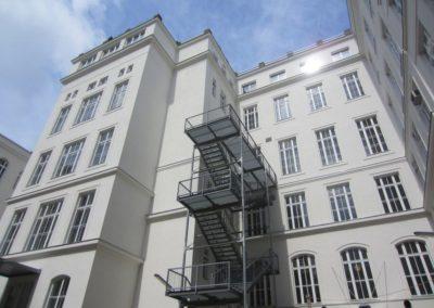 Fassadensanierung Innenhof Altes Elektrotechnisches Institutsgebäude
